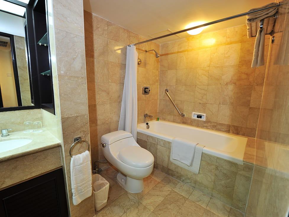 Garden Wing One Bedroom - Bathroom - Hotel Borobudur Jakarta