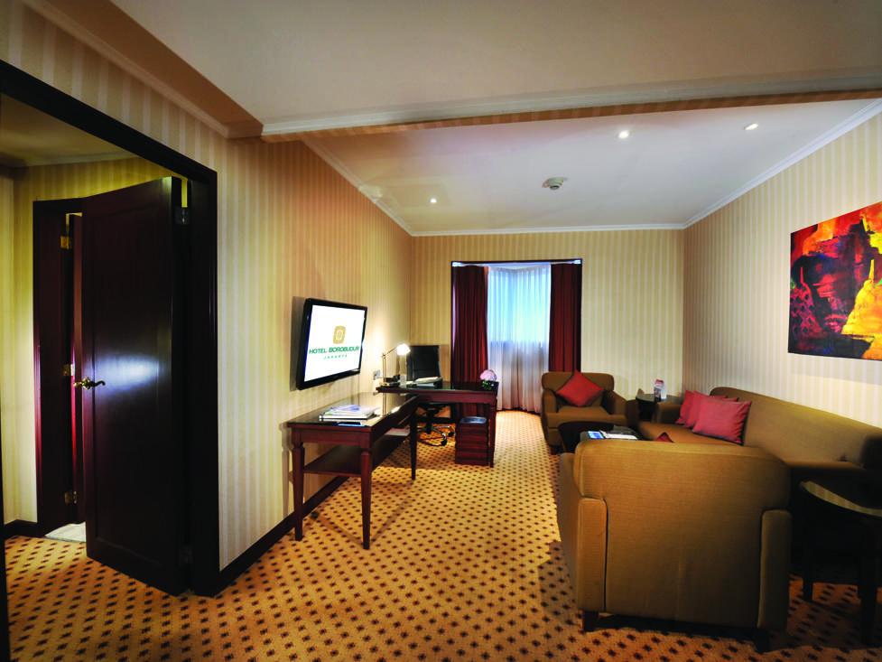 Junior Suite - Living Room - Hotel Borobudur Jakarta
