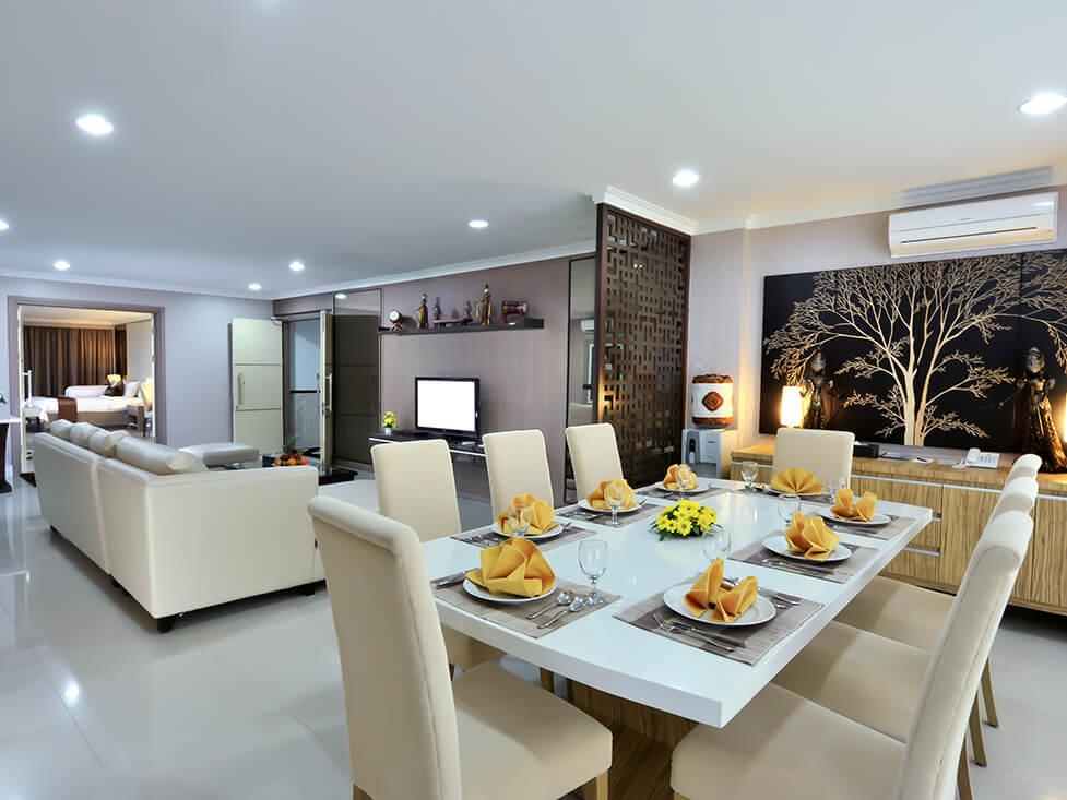 Presidential Suite - Dining Area - Palace Hotel Cipanas