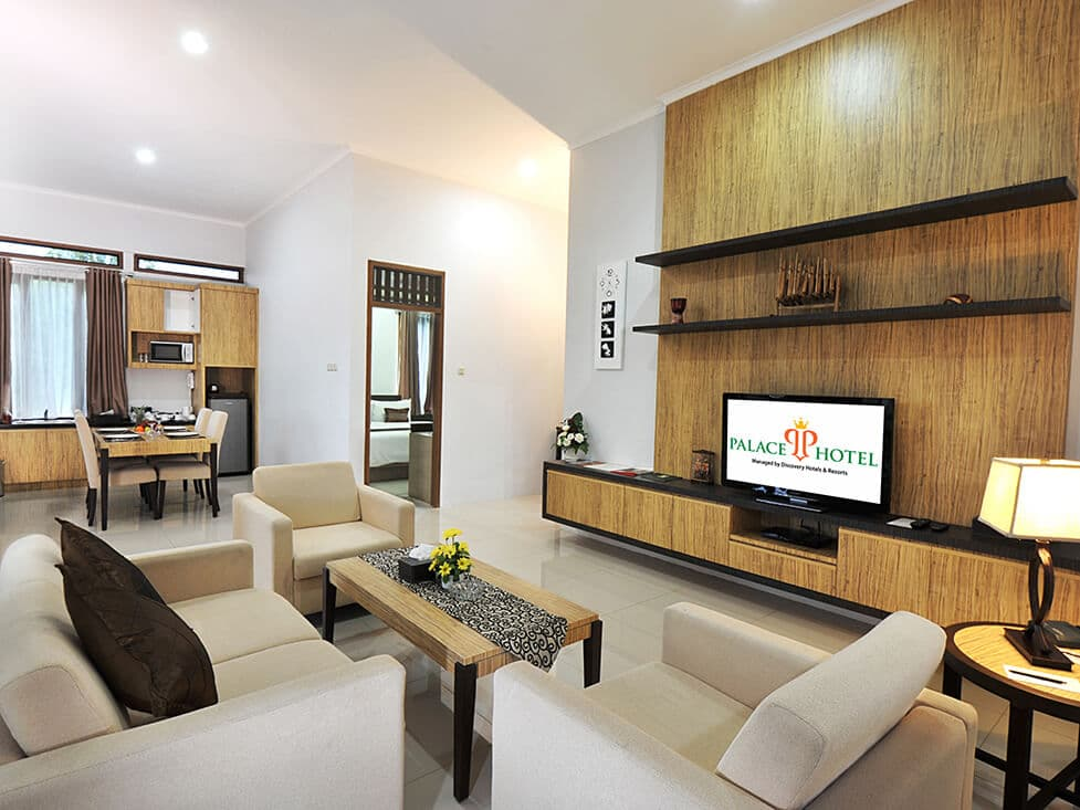 Villa - Living Room - Palace Hotel Cipanas