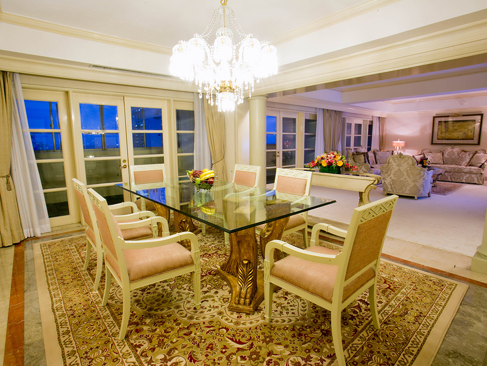 Presidential Suite Dining Room - Hotel Borobudur Jakarta