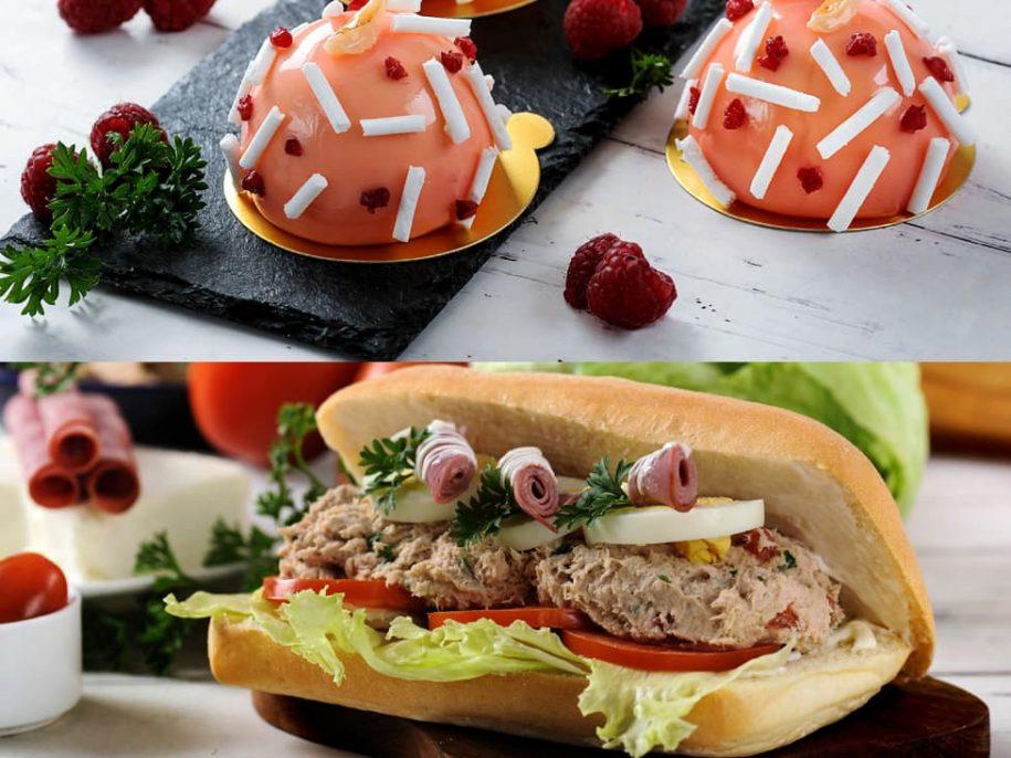 Litchi Raspberry / Ciabatta & Tuna Rillette Sandwich