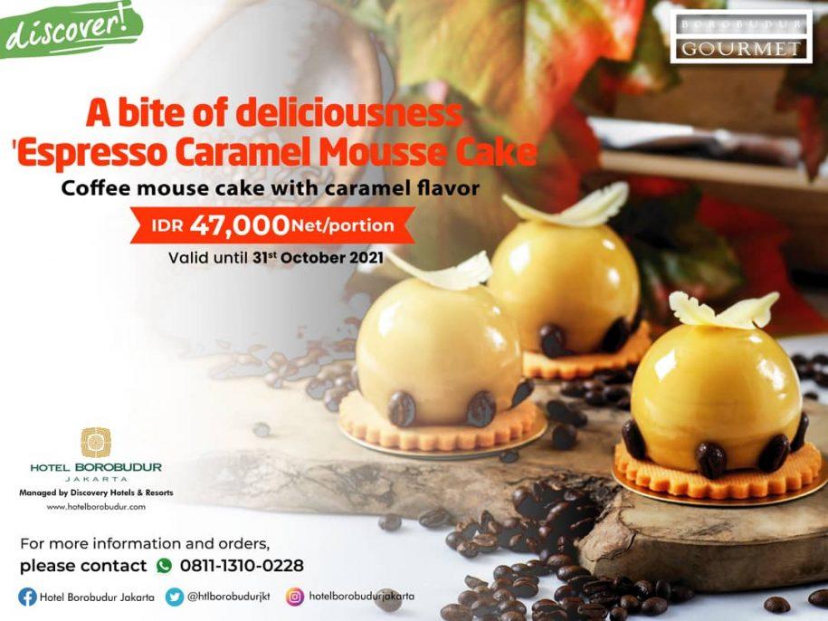"""A Bite of Deliciousness """"Espresso Caramel Mousse Cake"""""""